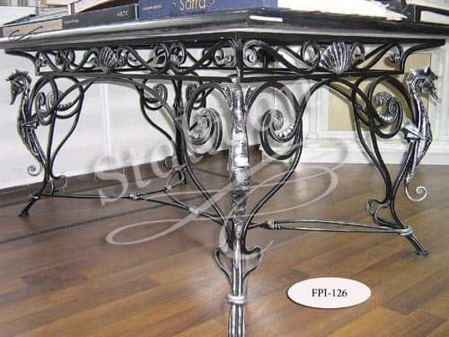 Стол с элементами ковки FPI-126 - фото 1