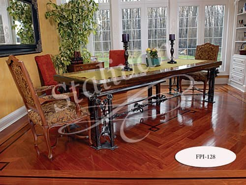 Стол с ковкой FPI-128 - фото 1