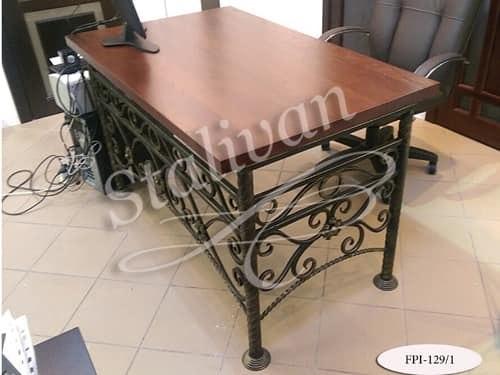 Стол с деревянной столешницей FPI-129-1 - фото 1