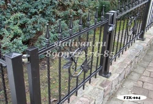 Забор с ковкой FZK-004 - фото 1