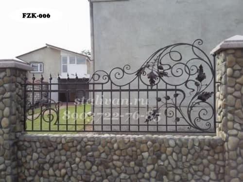 Кованый забор FZK-006 - фото 1