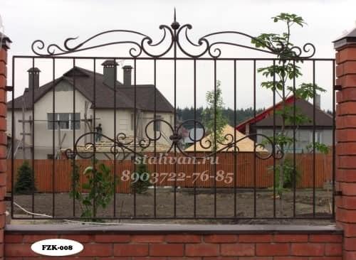 Забор с ковкой FZK-008 - фото 1