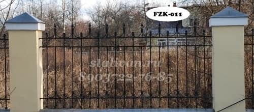 Забор с художественной ковкой FZK-011 - фото 1