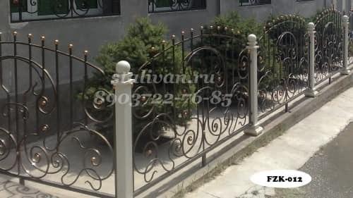 Забор с художественной ковкой FZK-012 - фото 1