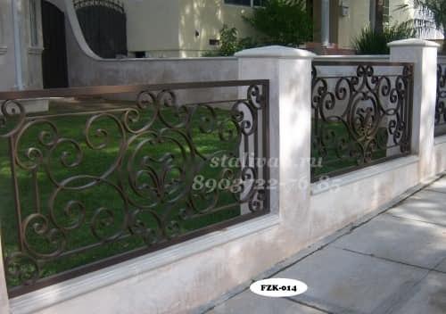 Забор с художественной ковкой FZK-014 - фото 1