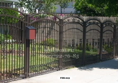 Кованый забор FZK-015 - фото 1