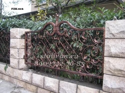 Ажурный кованый забор FZK-016 - фото 1