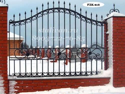 Кованый забор FZK-018 - фото 1