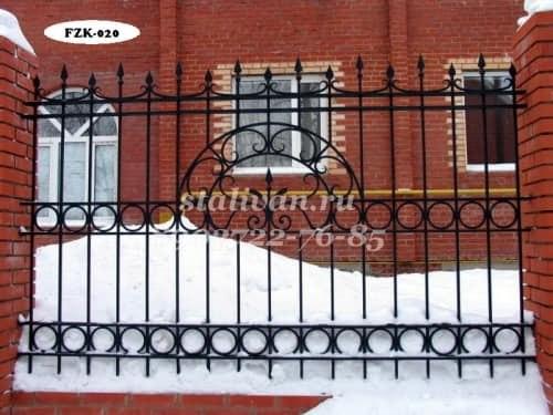 Забор с художественной ковкой FZK-020 - фото 1