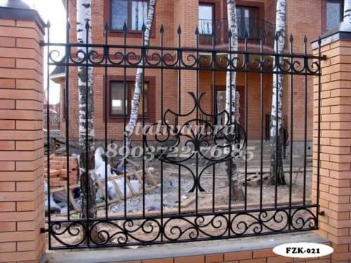 Забор с ковкой FZK-021 - фото 1