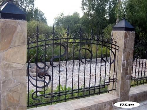 Кованый забор FZK-022 - фото 1