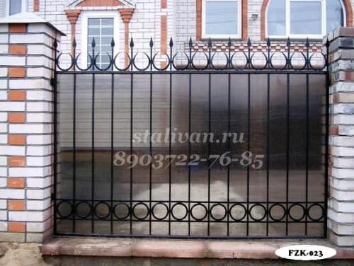 Забор с ковкой FZK-023 - фото 1