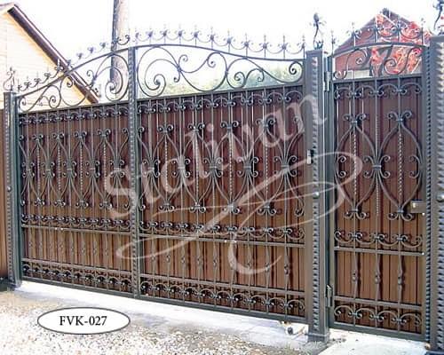 Кованые ворота FVK-027 - фото 1