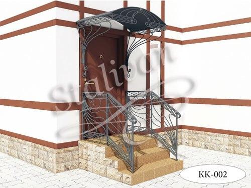 Козырек с ковкой KK-002 - фото 1
