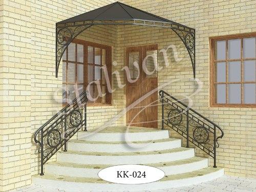 Козырек с художественной ковкой KK-024 - фото 1