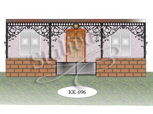 Навес с элементами ковки KK-096 - фото 1