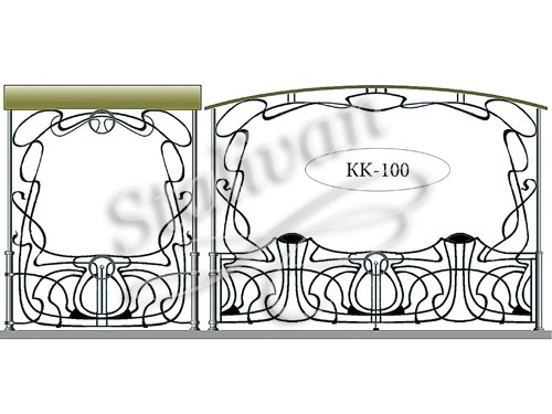 Кованый навес KK-100 - фото 1