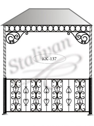 Навес с художественной ковкой KK-137 - фото 1