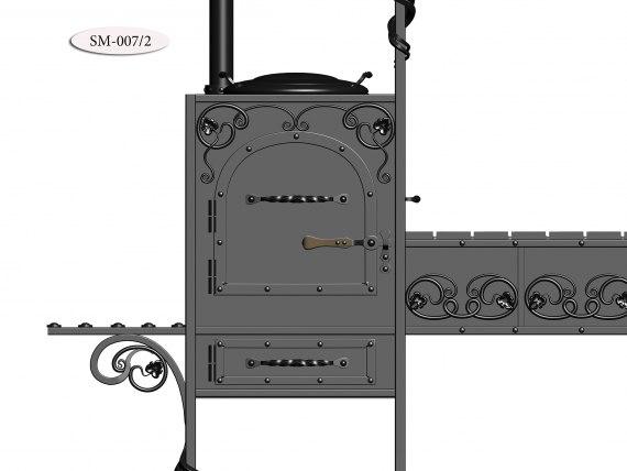 Мангал с элементами ковки SM-007 - фото 3