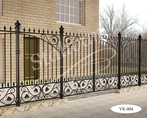 Ворота с ковкой VK-004 - фото 1