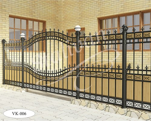 Ворота с художественной ковкой VK-006 - фото 1