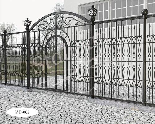 Ворота с художественной ковкой VK-008 - фото 1