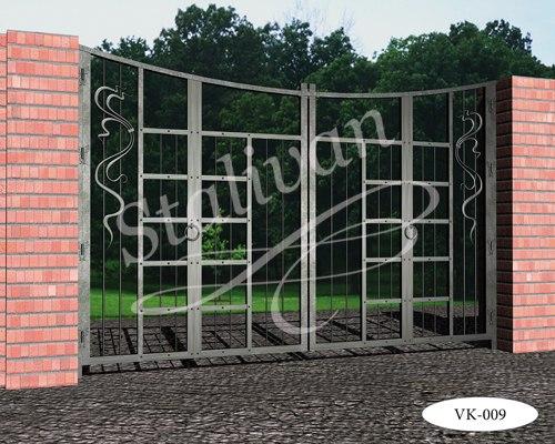 Кованые ворота VK-009 - фото 1