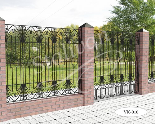 Ворота с ковкой VK-010 - фото 1