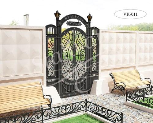 Ворота с художественной ковкой VK-011 - фото 1