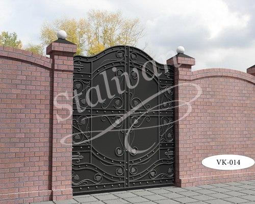 Ворота кованые глухие VK-014 - фото 1