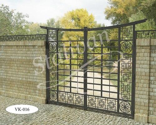 Ворота с ковкой VK-016 - фото 1