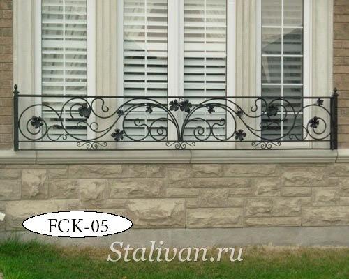 Кованая цветочница на окно FCK-05 - фото 1