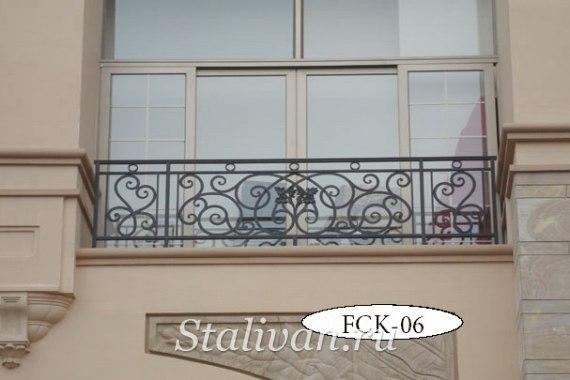 Кованая оконная цветочница FCK-06 (H-500mm) - фото 1