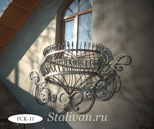 Кованая цветочница FCK-11 - фото 1