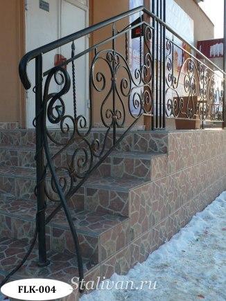 Перила (лестничные ограждения) с ковкой FLK-004 - фото 1