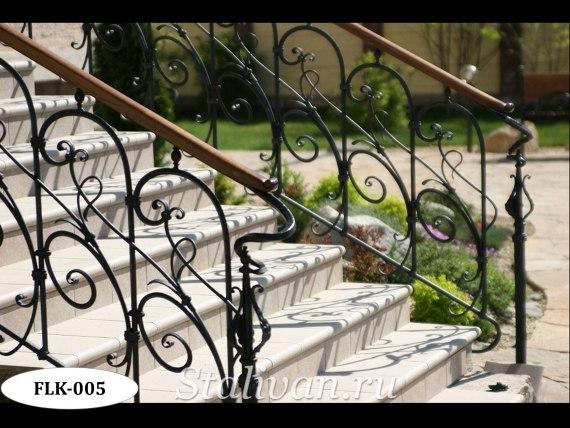 Кованые перила (лестничные ограждения) FLK-005 - фото 2