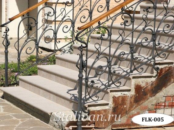 Кованые перила (лестничные ограждения) FLK-005 - фото 3