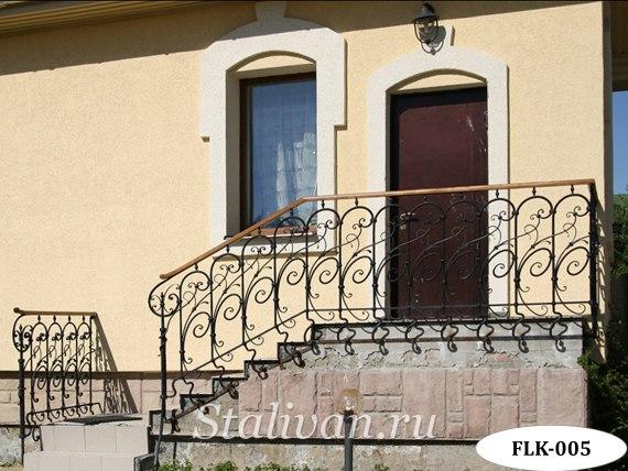 Кованые перила (лестничные ограждения) FLK-005 - фото 1