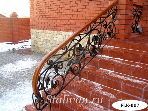 Перила (лестничные ограждения) с художественной ковкой FLK-007 - фото 1