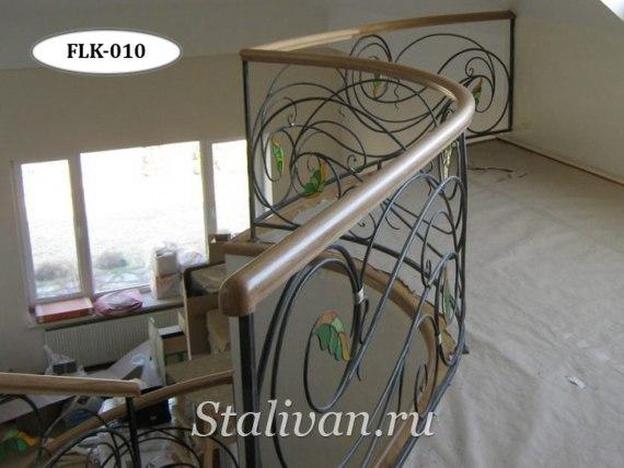 Перила (лестничные ограждения) с элементами ковки FLK-010 - фото 3