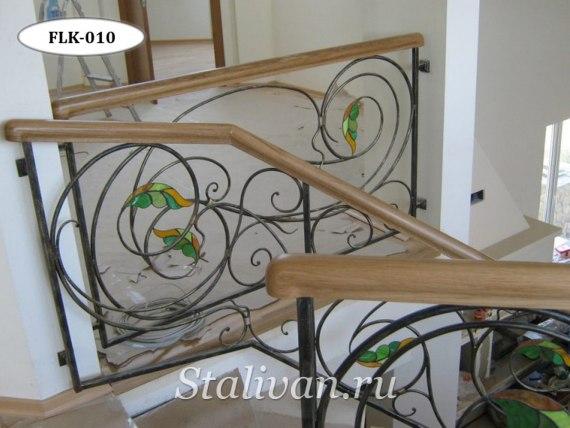 Перила (лестничные ограждения) с элементами ковки FLK-010 - фото 1