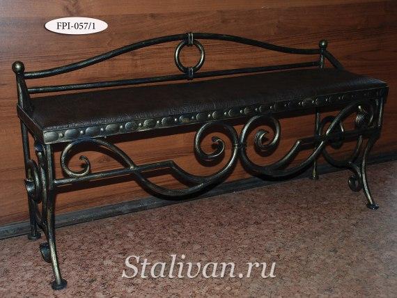 Банкетка с художественной ковкой FPI-057 - фото 1