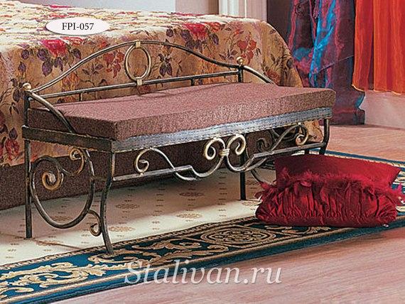Банкетка с художественной ковкой FPI-057 - фото 3