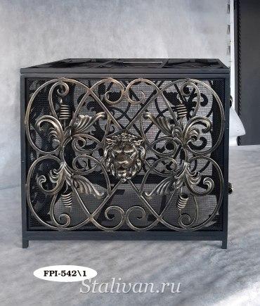 Банкетка с ящиком кованая FPI-542 - фото 2