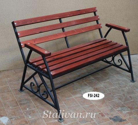 Комплект: кованая скамейка со столом FSS-002 - фото 3