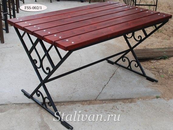Комплект: кованая скамейка со столом FSS-002 - фото 2
