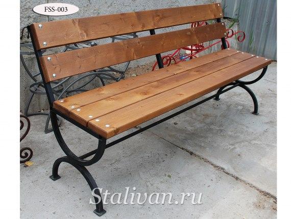 Комплект: кованая скамейка со столом FSS-003 - фото 1
