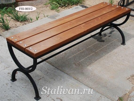 Комплект: кованая скамейка со столом FSS-003 - фото 3