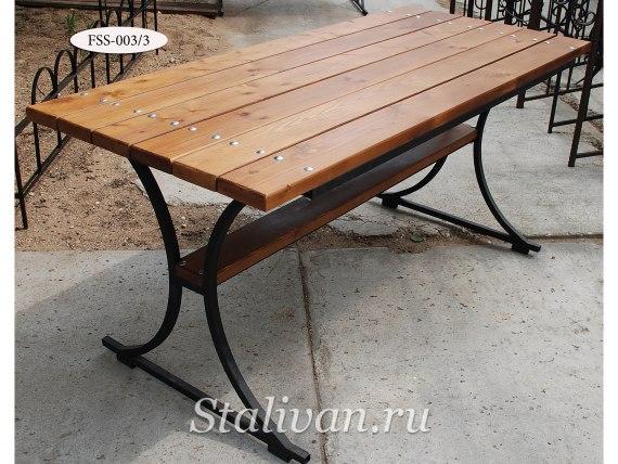 Комплект: кованая скамейка со столом FSS-003 - фото 4