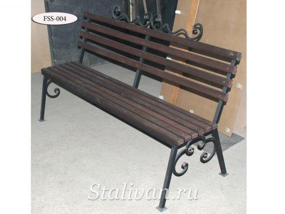 Кованая скамейка FSS-004 - фото 1